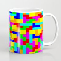 tetris Mugs featuring Tetris by tonilara