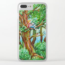 Summertime Boy Clear iPhone Case