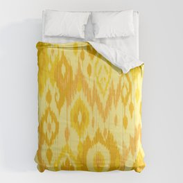 MODERN IKAT TRIBAL PATTERN | yellow Comforters