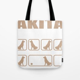 Stubborn Akita Tricks design Tote Bag