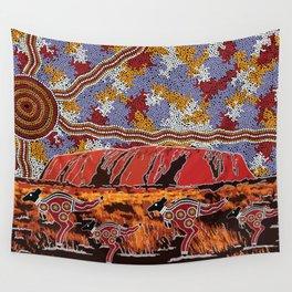 Uluru (Ayers Rock) Authentic Aboriginal Art Wall Tapestry