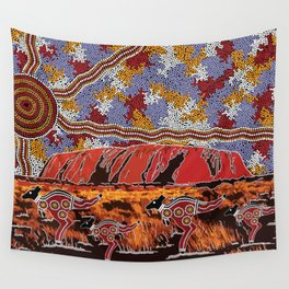 Uluru (Ayers Rock) Authentic Aboriginal Art Wall Tapestry