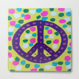 Colorful Abstract Peace Sign Metal Print