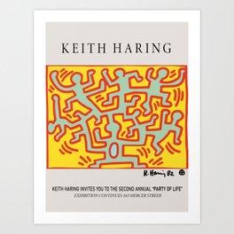 Growing - Keith Art, Exhibition Poster, Japan Vintage Print Art Print