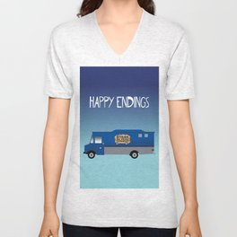 Steak Me Home - Happy Endings Unisex V-Neck
