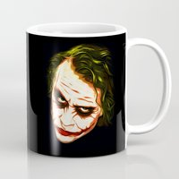 the joker Mugs featuring Joker by William Cuccio aka WCSmack