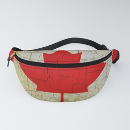 Cracked Canada flag Fanny Pack