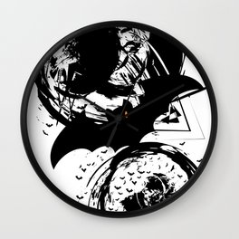 Bats ink splash Wall Clock