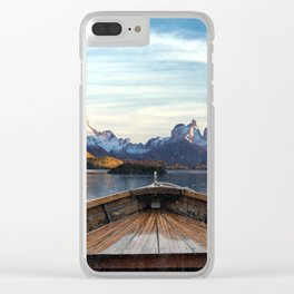Torres del Paine National Park Chile, The Boat in Patagonia Clear iPhone Case