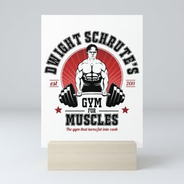 Schrute's Gym For Muscles Mini Art Print