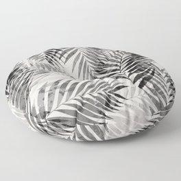 Palm Leaves - Black & White Floor Pillow