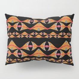 Polynesian Neo Tribal Ocean Fins Woven Pattern Pillow Sham