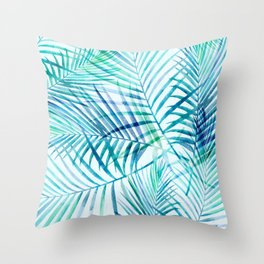Tropical Palm Pattern Throw Pillow