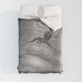 Gustave Dore: Paradise Lost XII Duvet Cover