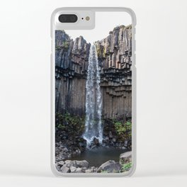 Svartifoss  waterfall in Iceland - nature landscape Clear iPhone Case