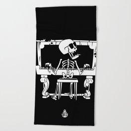 Piano ray Beach Towel