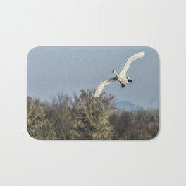 Tundra Swan Flying Bath Mat