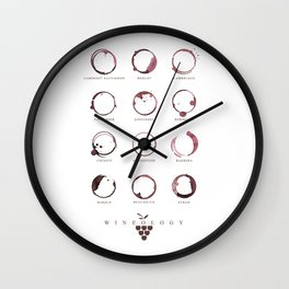 Red Wine Stains Wall Clock