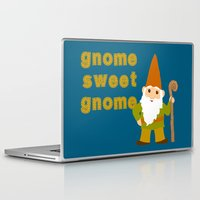gnome Laptop & iPad Skins featuring gnome sweet gnome by Elephant Trunk Studio