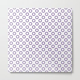 Purple Rings Metal Print