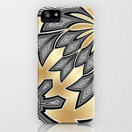 Pointillism Tribal fusion iPhone Case