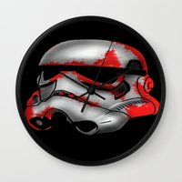 storm trooper Wall Clocks featuring Storm Trooper by Art of Fernie
