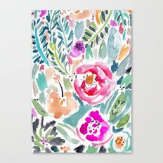 Walk in the Park Floral Canvas Print