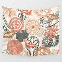 doodle Wall Tapestries featuring doodle  by Ancello