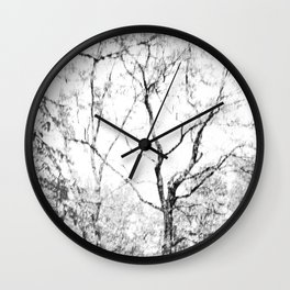 Black and white tree photography - Watercolor series #1 Wall Clock