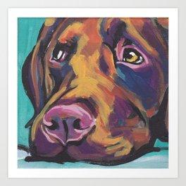 Fun Chocolate Lab Dog bright colorful Pop Art Labrador Art Print
