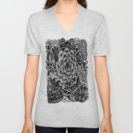 Zentangle Fishes! Fishes! Fishes! Unisex V-Neck