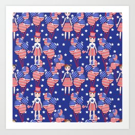 4th July Art Print