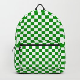 Grass Green and White Check - more colors Backpack