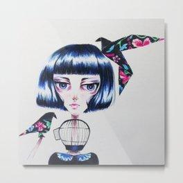 Paper Crows Metal Print