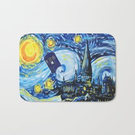 Tardis Starry Night Castle Bath Mat