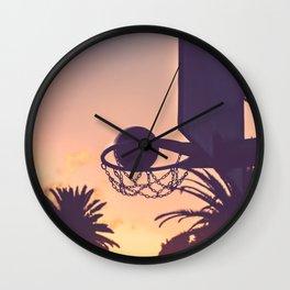 basketball hoop 1 Wall Clock