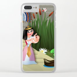 Baby Moses & the Egyptian Princess Clear iPhone Case