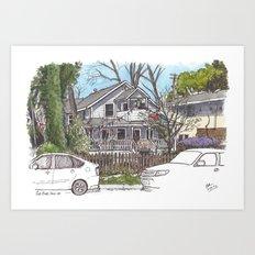 The Turtle House, Davis Art Print
