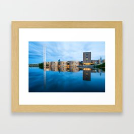 The blue hour in Ottawa Framed Art Print