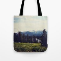 ashton irwin Tote Bags featuring Lake Irwin by Teal Thomsen Photography