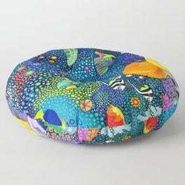 Ocean Tropical Fish Life Floor Pillow