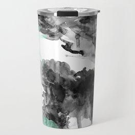 Mint-Splatter Travel Mug