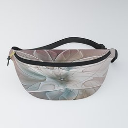 A Floral Friend, Abstract Fractal Art Fanny Pack