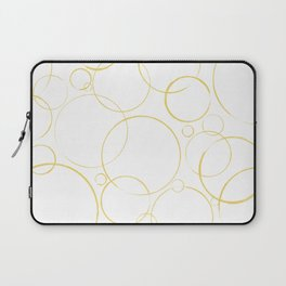 round and round golden  Laptop Sleeve