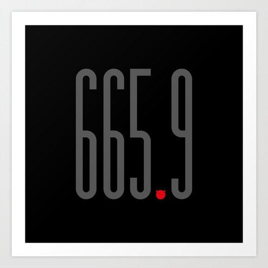 665.9 Art Print