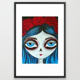 Muertos Girl in Blue Framed Art Print