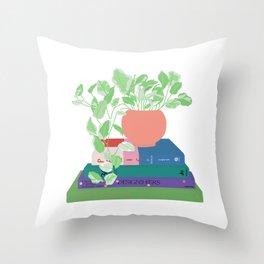 Design Plant Shelfie - Jewel Tones Throw Pillow