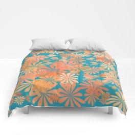 floral corals Comforters