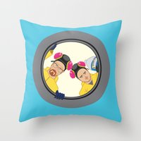 breaking Throw Pillows featuring Breaking by Stubarb