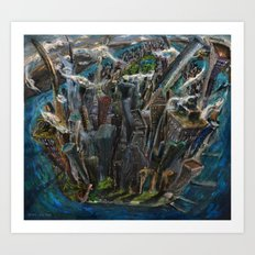 The Worlds Capital (oil on canvas) Art Print